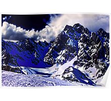Alps In Winter Fine Art Print Poster
