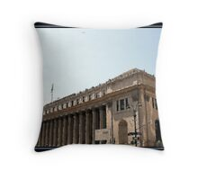NY POST OFFICE BRUSHSTROKES Throw Pillow