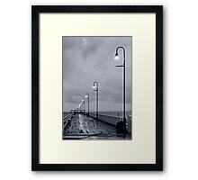 Dark Jetty Framed Print
