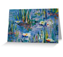 Monet Alley Greeting Card