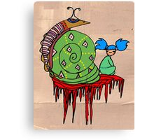 Pi Sung & Kei. Her giant green shell snail Canvas Print
