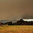 Smoke over the hills by BigAndRed