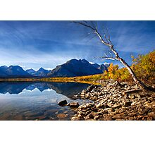 Saint Mary's Lake in Fall. Glacier National Park. Montana. USA Photographic Print