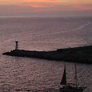 Sun sets over Puerto Vallarta by Mark Elshout