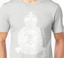 75(NZ) Squadron RAF Crest - Solid White Unisex T-Shirt