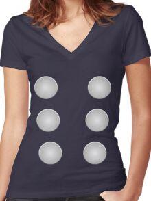 God of Thunder Women's Fitted V-Neck T-Shirt