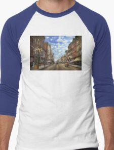 City - NY - Main Street. Poughkeepsie, NY - 1906 Men's Baseball ¾ T-Shirt