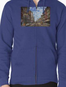 City - NY - Main Street. Poughkeepsie, NY - 1906 Zipped Hoodie