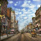 City - NY - Main Street. Poughkeepsie, NY - 1906 by Mike  Savad