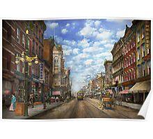 City - NY - Main Street. Poughkeepsie, NY - 1906 Poster