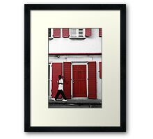 Contrasting with ones Surrounds Framed Print