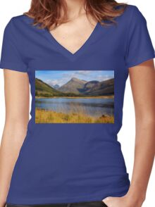 Septembers End Women's Fitted V-Neck T-Shirt