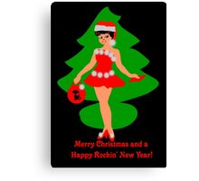 50s rocking Christmas card Canvas Print