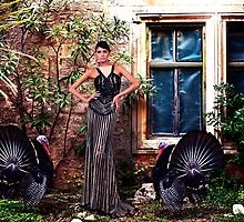High Fashion Model With Turkey by stockfineart