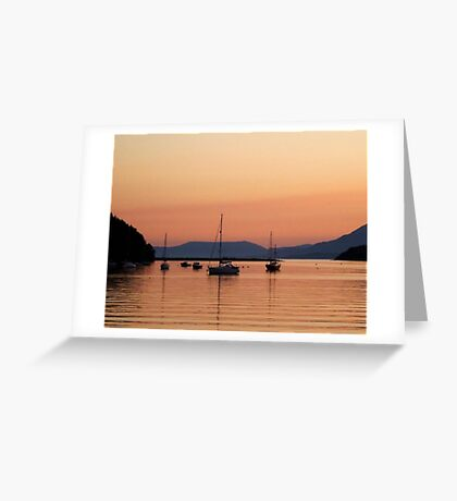 Sunset in Bantry bay Greeting Card