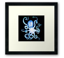 Octopus White Framed Print