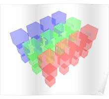 Transparent Cubes Poster