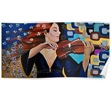 Frau mit Violine. / Dama con  violin Poster