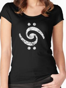 The Bass Bird (White) Women's Fitted Scoop T-Shirt