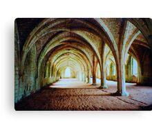 Fountains Abbey - Cellarium Canvas Print