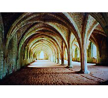 Fountains Abbey - Cellarium Photographic Print