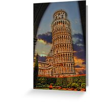 The Leaning Tower of Pisa, Italy Greeting Card