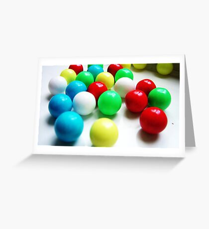 coloured candy Greeting Card