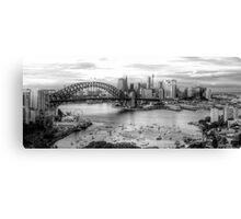 The City -  A Study in Black & White- HDR Experience Series Canvas Print