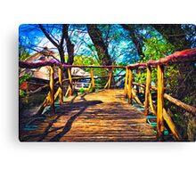Wooden Bridge Fine Art Print Canvas Print