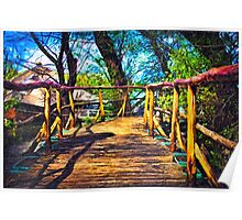 Wooden Bridge Fine Art Print Poster