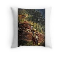 Home On The Hilltop Throw Pillow