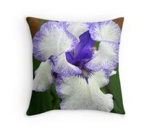 Lavender Blue Iris Throw Pillow