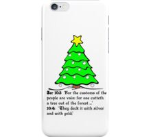 JEREMIAH 10  THE X MASS TREE iPhone Case/Skin