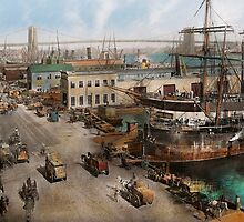 City - NY - South Street Seaport - 1901 by Mike  Savad