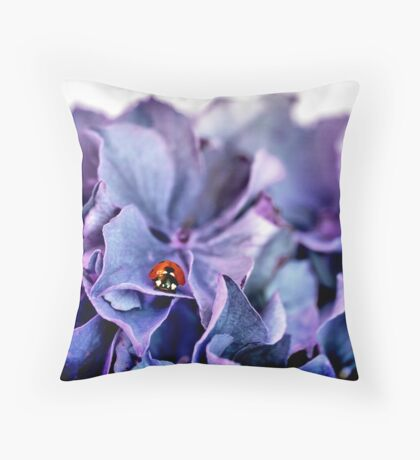 A Lady with the Blues Throw Pillow