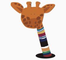 Giraffe in the Striped Turtle Neck by lnzart