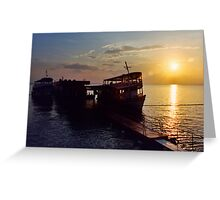 Black River Sunset Greeting Card