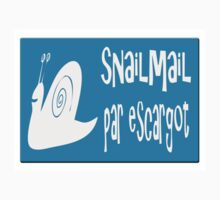 Airmail sticker effect - snailmail - par escargot.  Kids Clothes