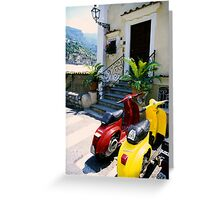 Positano street Greeting Card