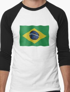 Brazilian flag and football Men's Baseball ¾ T-Shirt