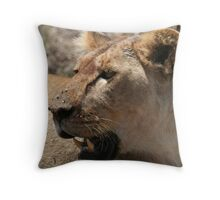 LIONESS PROFILE Throw Pillow