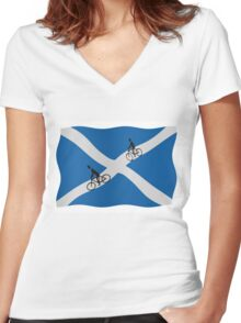 Scottish cycling Women's Fitted V-Neck T-Shirt