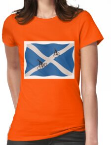 Scottish cycling Womens Fitted T-Shirt