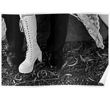 Wedding boots  Poster