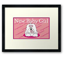 New Baby Girl Coton de Tulear PINK  Framed Print