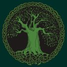 Celtic Tree (Green version) by IceFaerie