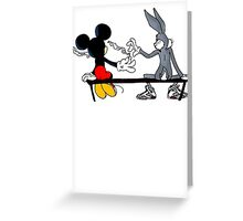 MIC AND BUGS PUFF PUFF PASS Greeting Card
