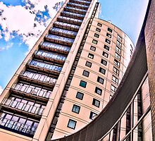 High rise living in Clarence Dock, Leeds. by Tim Constable