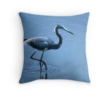 Tri-Color Heron Throw Pillow