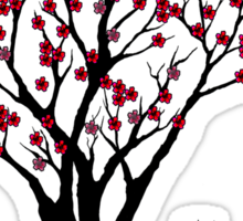 The Awake Cherry Tree in bloom Sticker